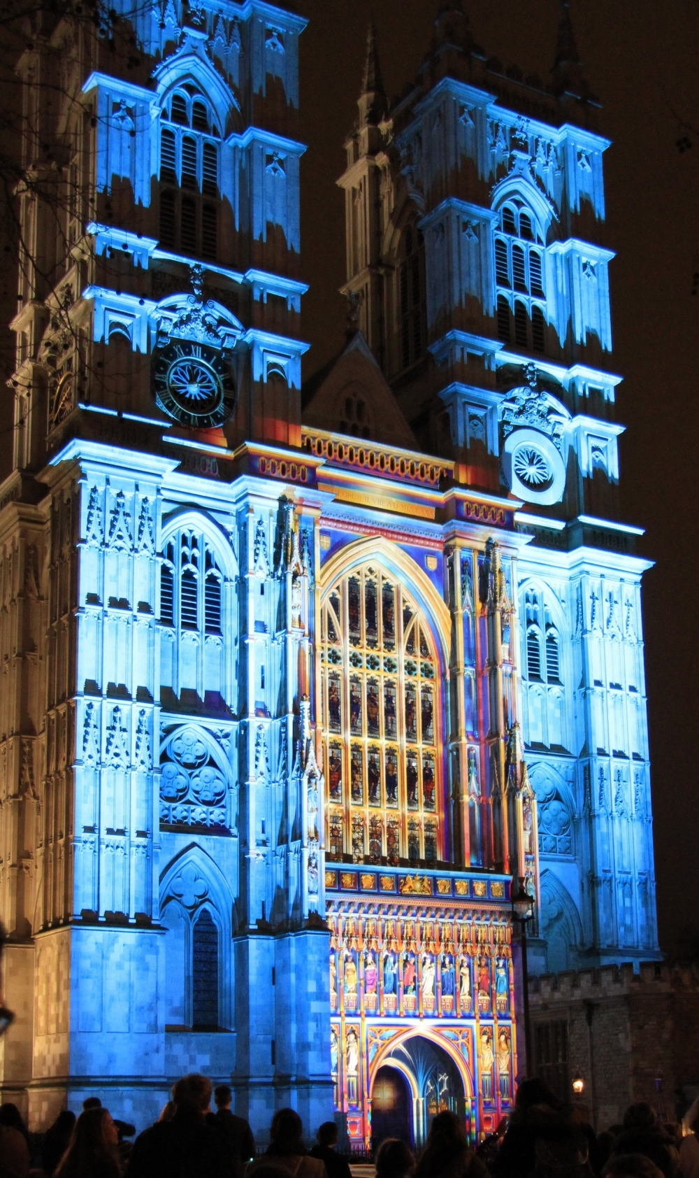 Westminster Abbey in lights